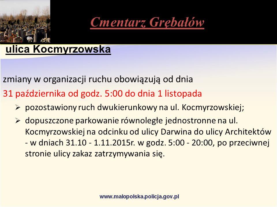 ulica Kocmyrzowska zmiany w organizacji ruchu obowiązują od dnia 31 października od godz.