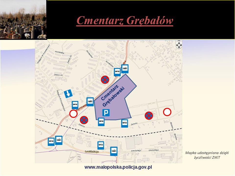 Cmentarz Grębałowski Mapka udostępniona dzięki życzliwości ZIKiT