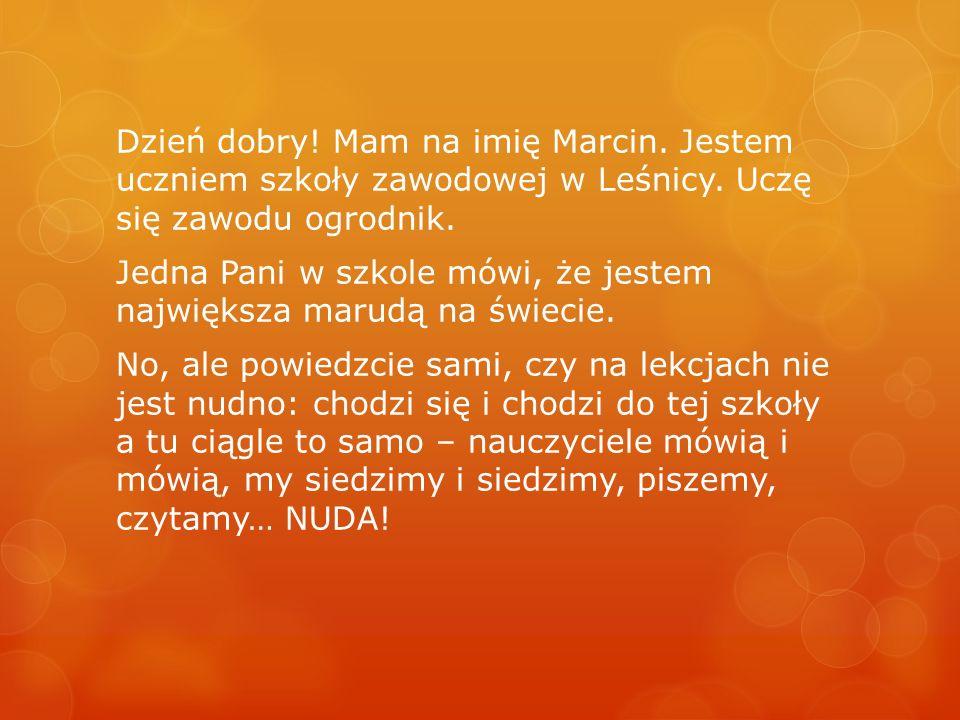 Konkurs e-Portfolio dla szkół specjalnych Marcin Józef Klasa III A Zasadnicza Szkoła Zawodowa w Leśnicy