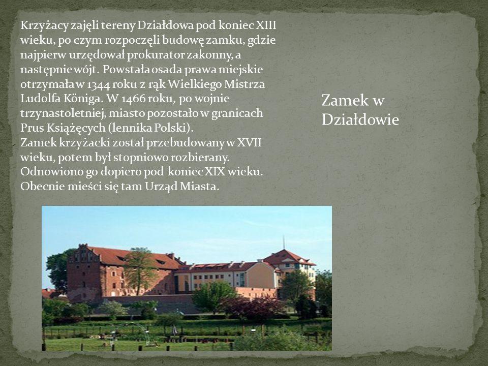 Krzyżacy zajęli tereny Działdowa pod koniec XIII wieku, po czym rozpoczęli budowę zamku, gdzie najpierw urzędował prokurator zakonny, a następnie wójt.