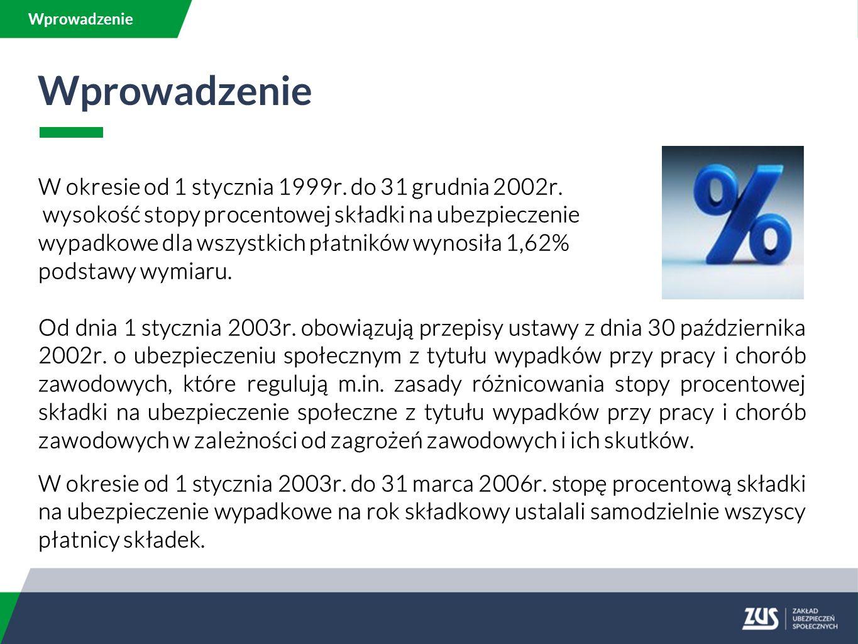Wprowadzenie W okresie od 1 stycznia 1999r. do 31 grudnia 2002r.