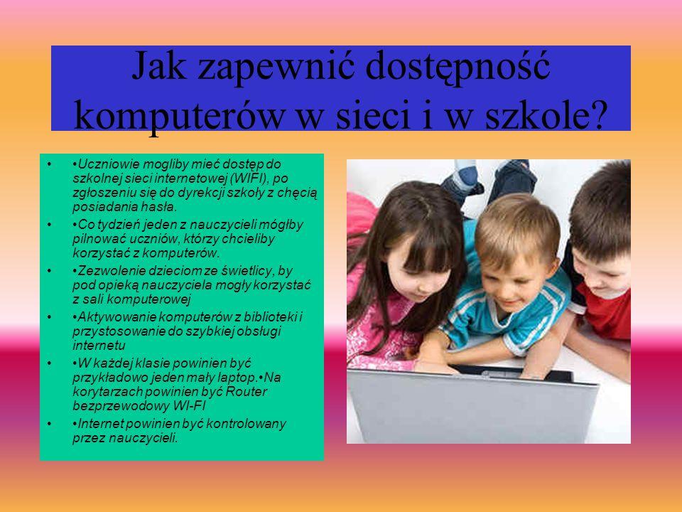 Jak sprawiedliwie i sensownie dzielić dostęp do TIK między różne przedmioty i różnych uczniów.