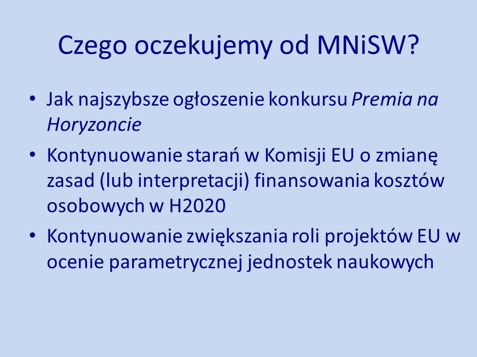 Czego oczekujemy od MNiSW.
