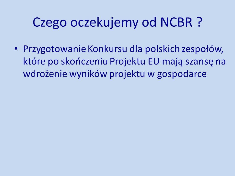 Czego oczekujemy od NCBR .