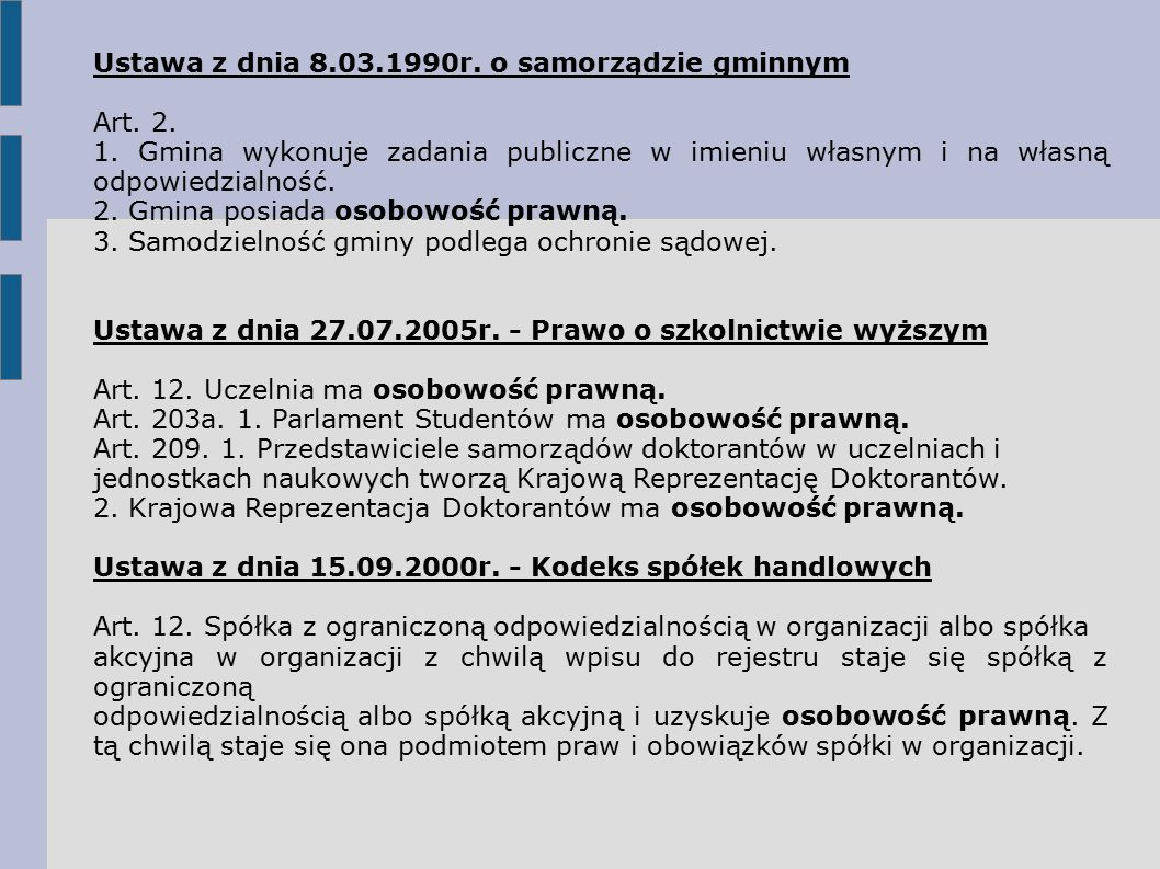 Ustawa z dnia 8.03.1990r. o samorządzie gminnym Art.