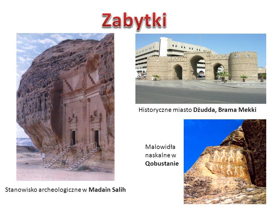 Stanowisko archeologiczne w Madain Salih Historyczne miasto Dżudda, Brama Mekki Malowidła naskalne w Qobustanie