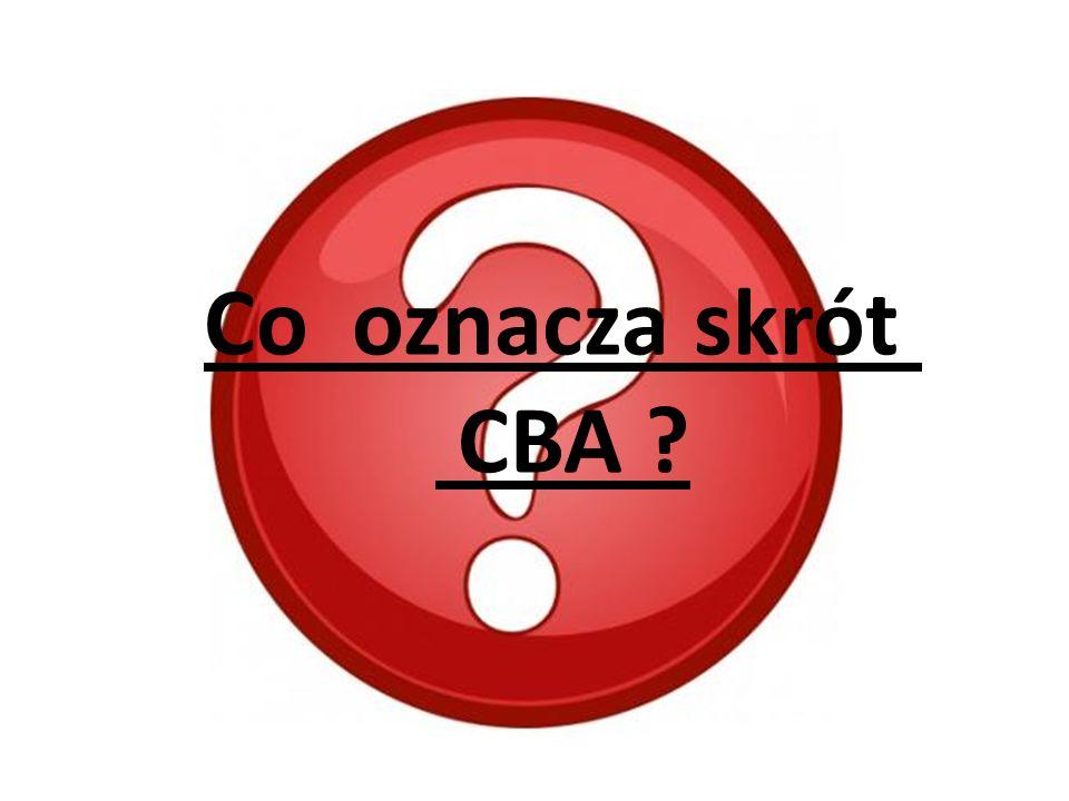 Co oznacza skrót CBA ?