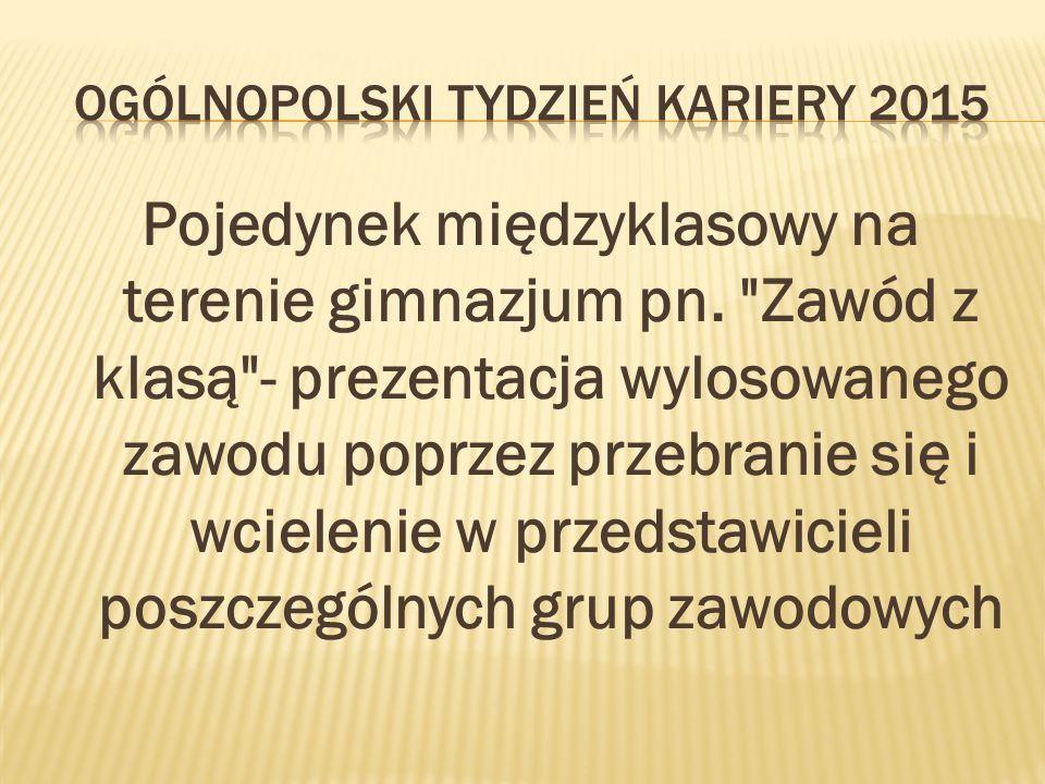 Pojedynek międzyklasowy na terenie gimnazjum pn.