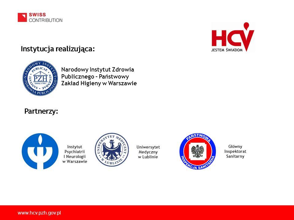 www.hcv.pzh.gov.pl Zakażenia HCV wśród problemowych użytkowników narkotyków - rozpowszechnienie i czynniki ryzyka.