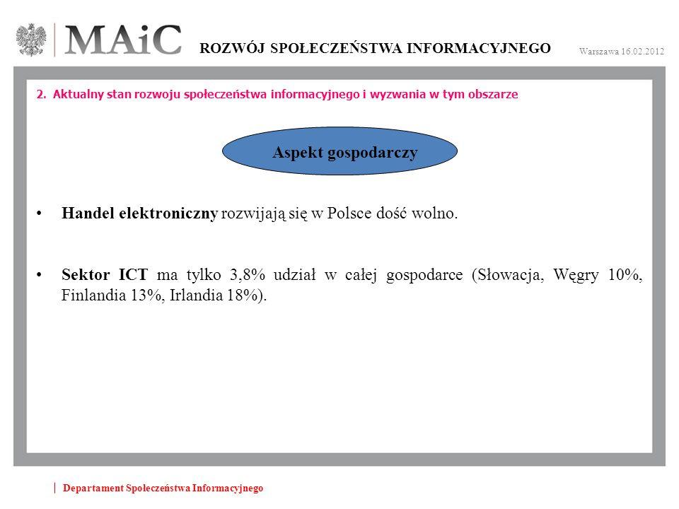 Departament Społeczeństwa Informacyjnego ROZWÓJ SPOŁECZEŃSTWA INFORMACYJNEGO Warszawa 16.02.2012 2.