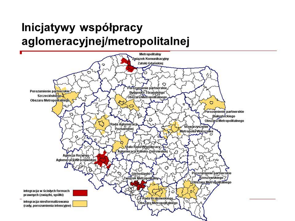 Inicjatywy współpracy aglomeracyjnej/metropolitalnej