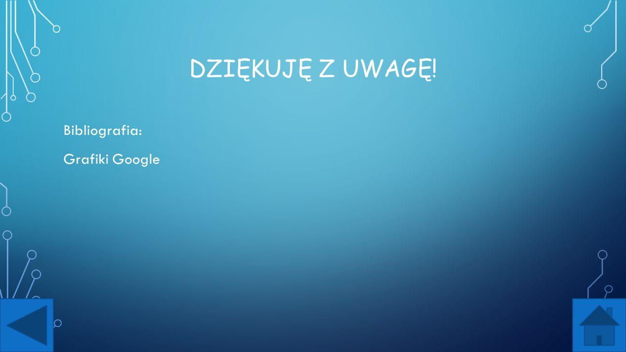 DZIĘKUJĘ Z UWAGĘ! Bibliografia: Grafiki Google