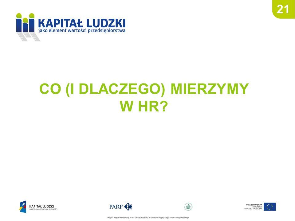 21 CO (I DLACZEGO) MIERZYMY W HR?