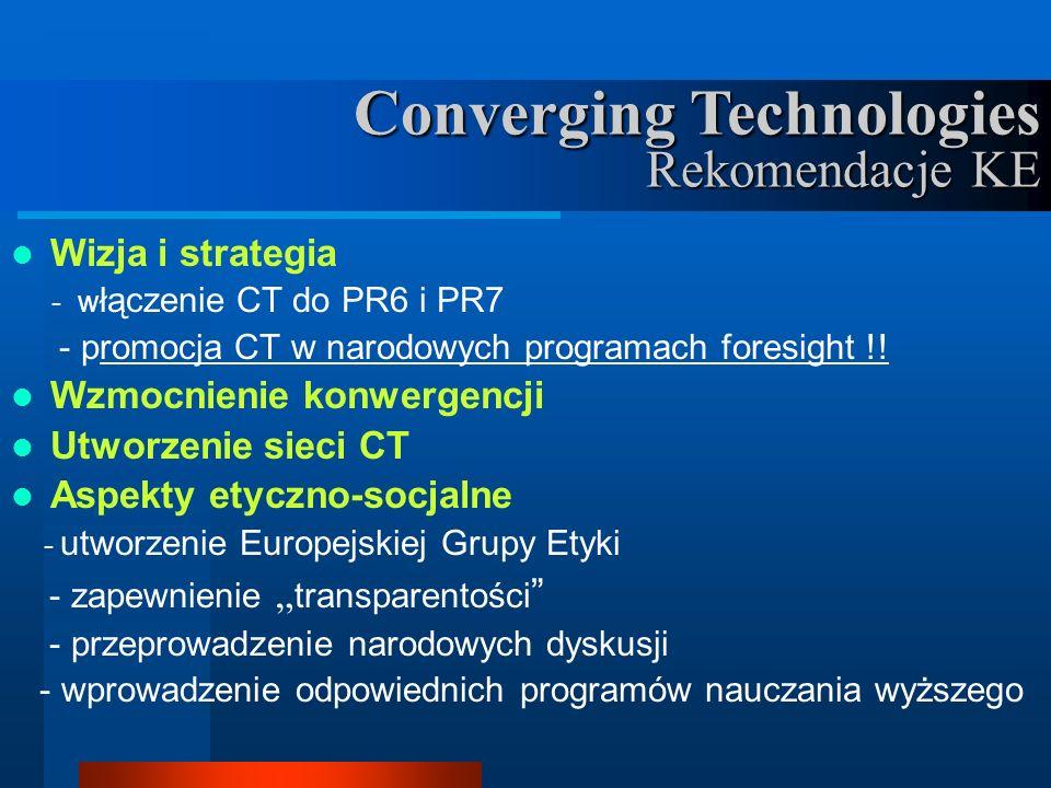 Wizja i strategia - w łączenie CT do PR6 i PR7 - promocja CT w narodowych programach foresight !.