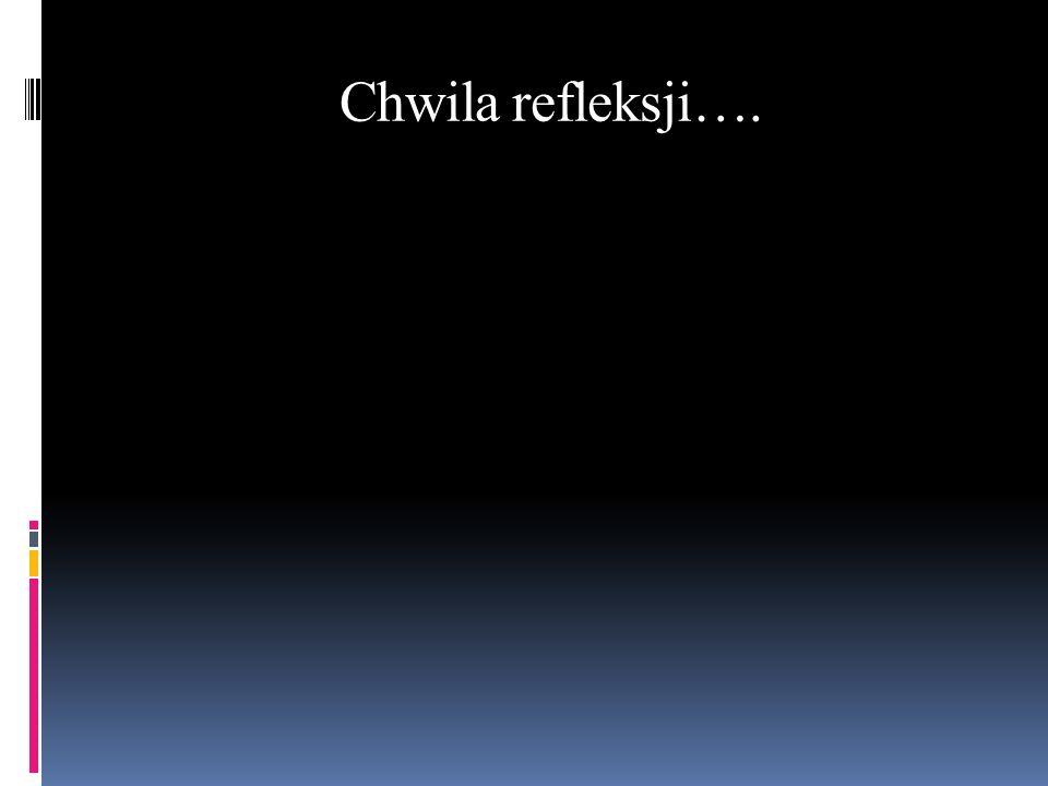 Chwila refleksji….