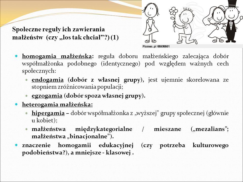 Podsumowanie pokrewieństwo i jego znaczenie ludzkie (dla jednostki) i społeczne; rodzina i małżeństwo: typy i rodzaje małżeństw, społeczne reguły zawierania małżeństw, przykład Polski.