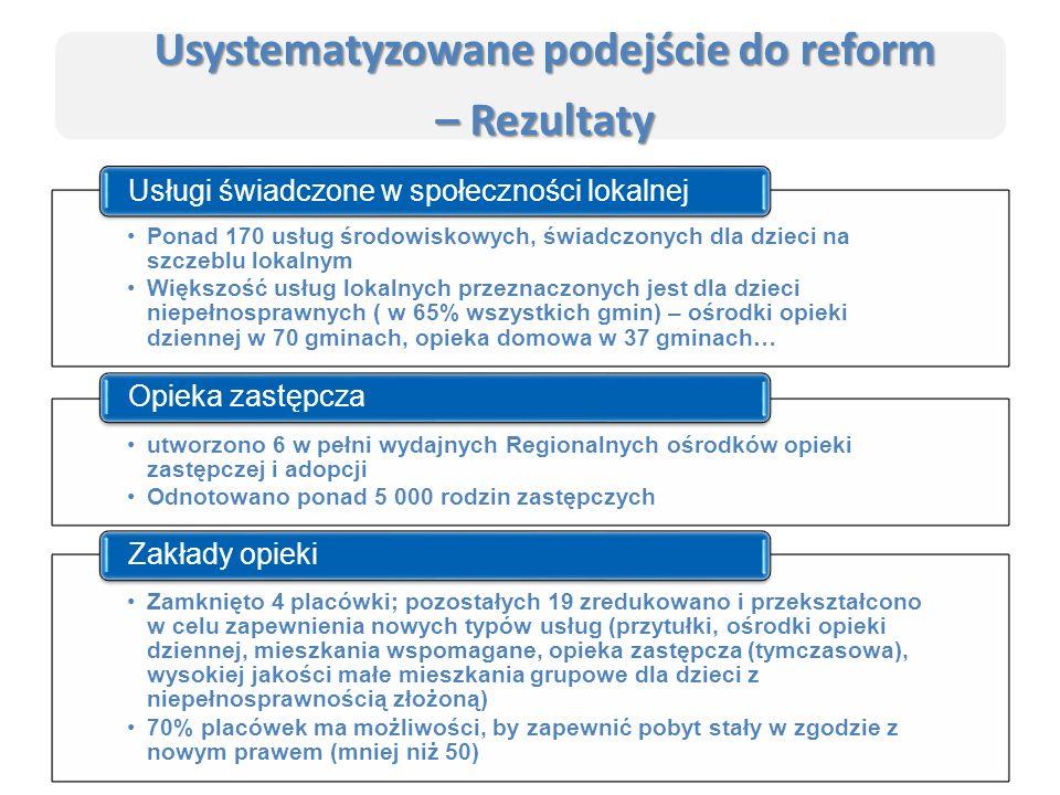 Serbia jest jednym z krajów o najniższym wskaźniku instytucjonalizacji opieki dla dzieci w Europie – w 2014 r.