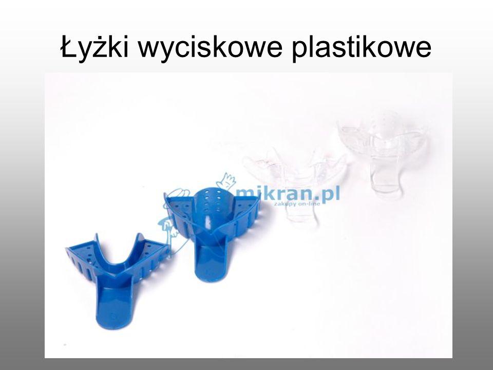 Łyżki wyciskowe plastikowe