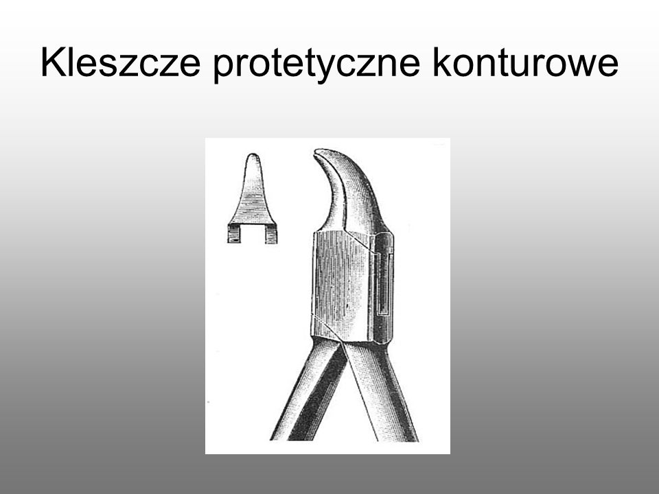 Kleszcze protetyczne do wyginania klamer
