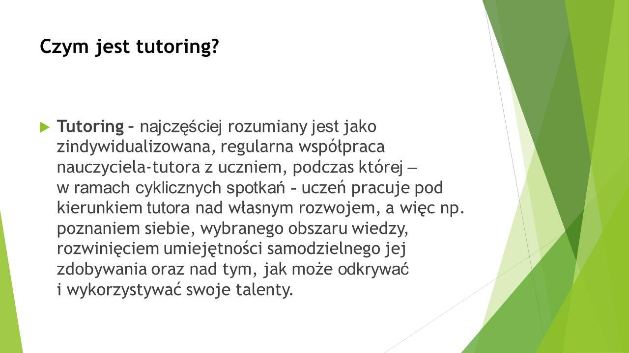 Czym jest tutoring.