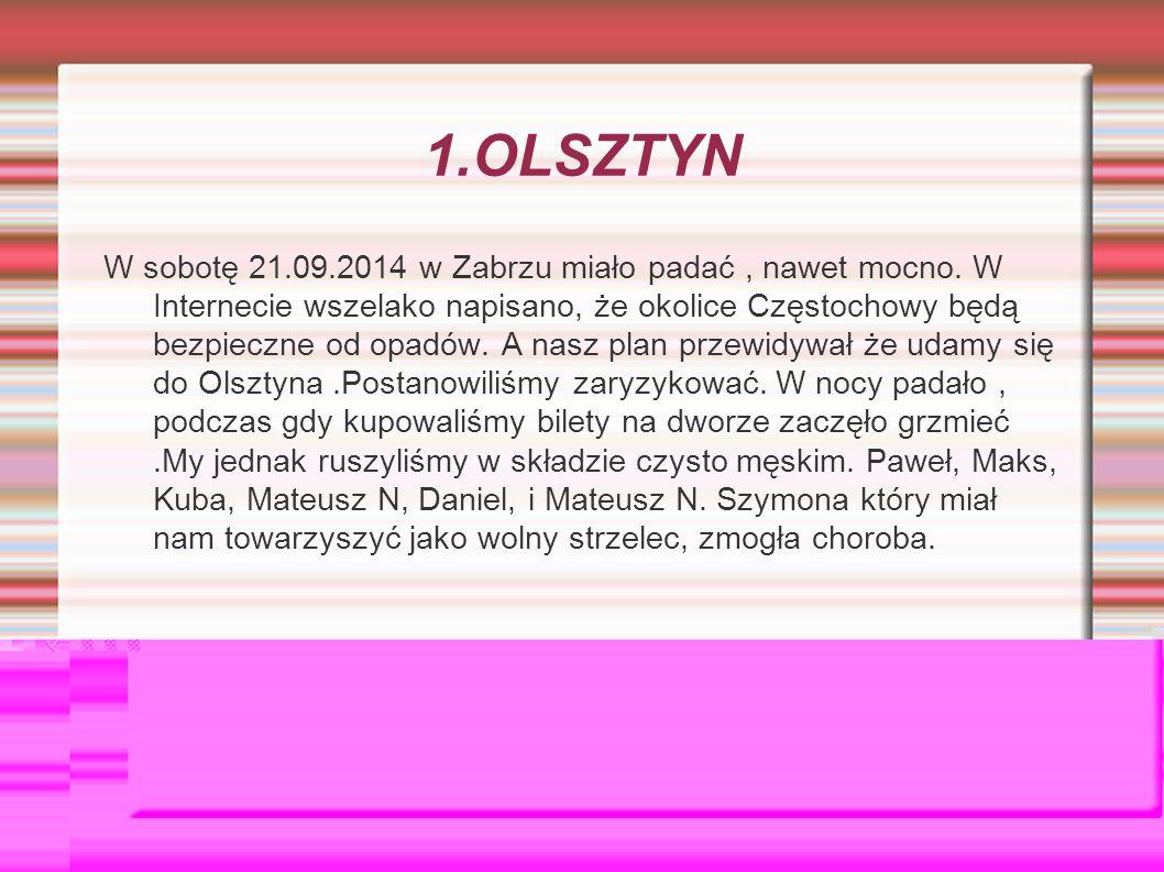 1.OLSZTYN W sobotę 21.09.2014 w Zabrzu miało padać, nawet mocno.