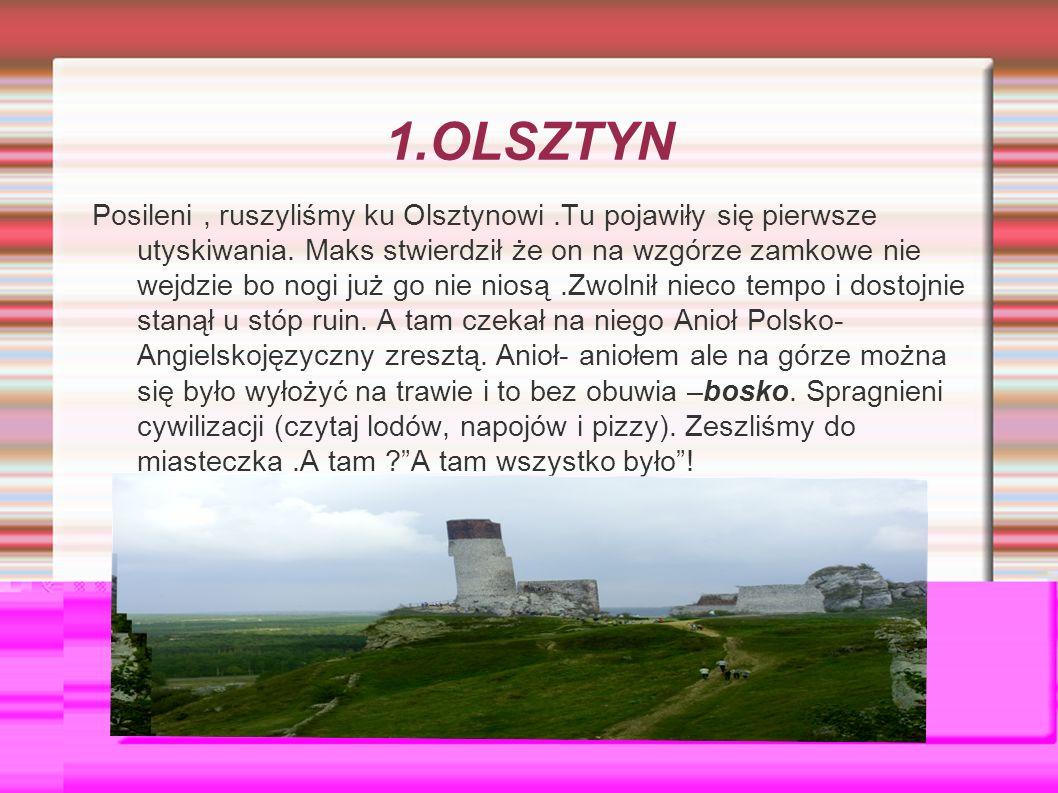 1.OLSZTYN Posileni, ruszyliśmy ku Olsztynowi.Tu pojawiły się pierwsze utyskiwania.