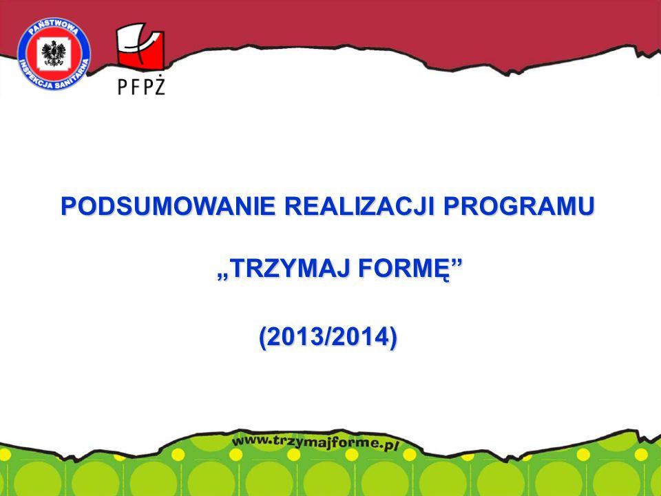 """PODSUMOWANIE REALIZACJI PROGRAMU """"TRZYMAJ FORMĘ"""" (2013/2014)."""
