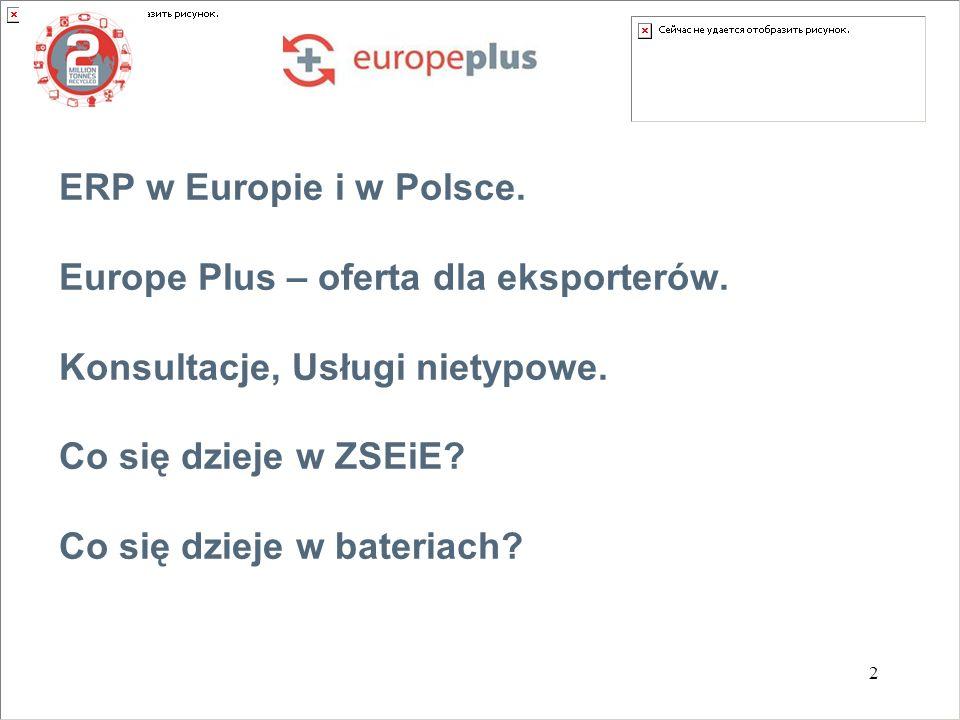 2 ERP w Europie i w Polsce. Europe Plus – oferta dla eksporterów.