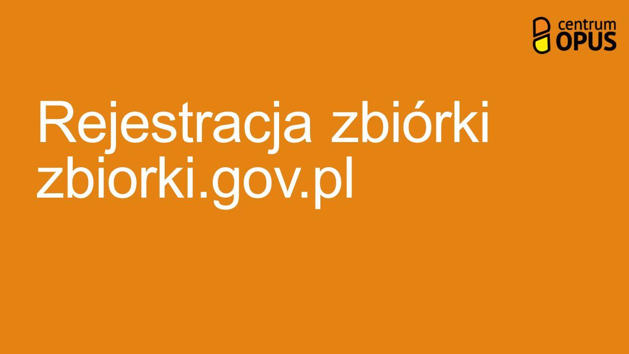 Rejestracja zbiórki zbiorki.gov.pl