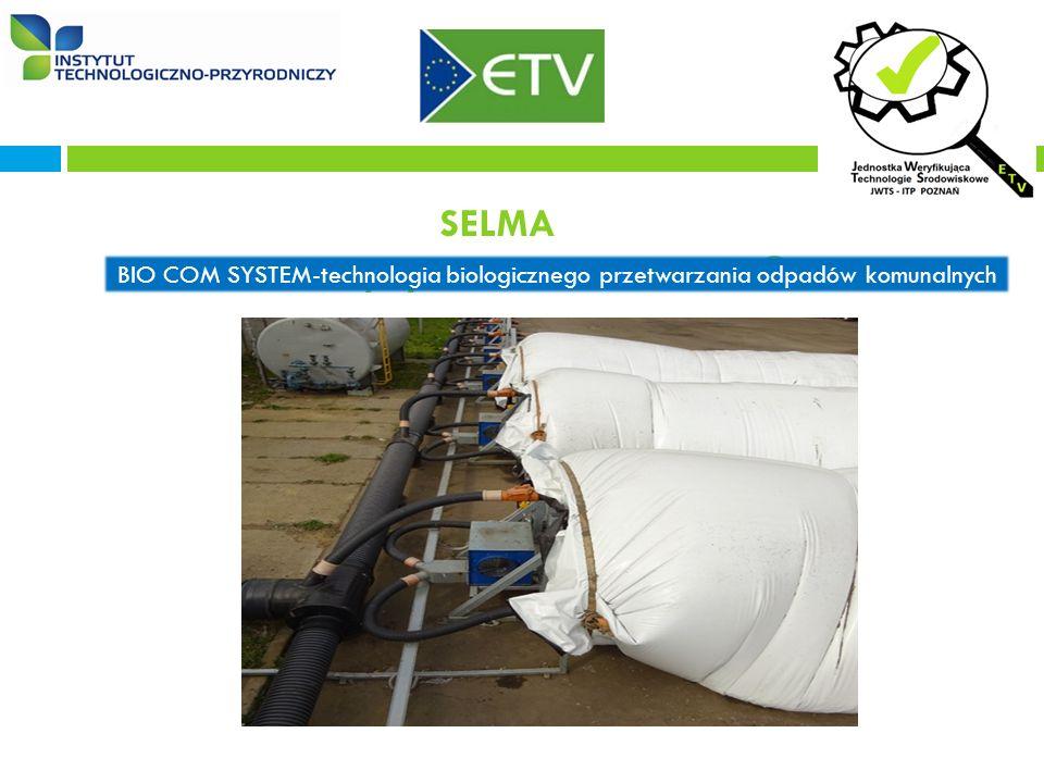 SELMA dla maszyny BSX14 BIOMASSER® BIO COM SYSTEM-technologia biologicznego przetwarzania odpadów komunalnych