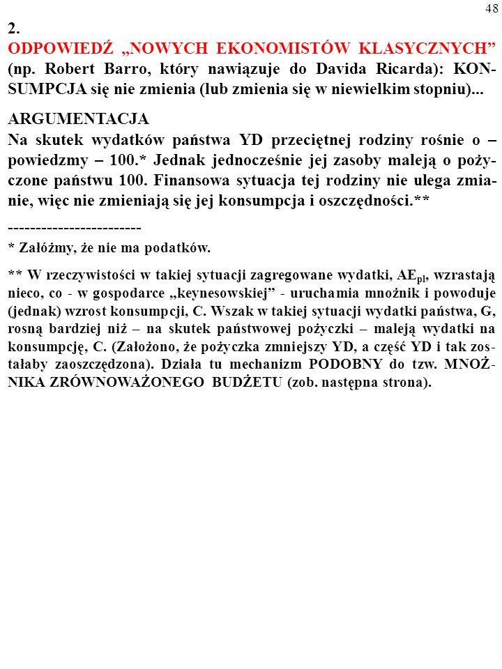 """47 3.2. SPORY WOKÓŁ """"RÓWNOWAŻNOŚCI RICARDIAŃ- SKIEJ (ang."""