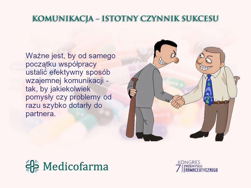 Ważne jest, by od samego początku współpracy ustalić efektywny sposób wzajemnej komunikacji - tak, by jakiekolwiek pomysły czy problemy od razu szybko dotarły do partnera.