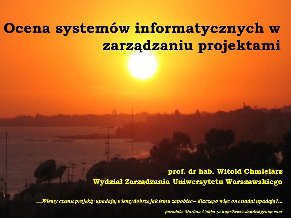 Ocena systemów informatycznych w zarządzaniu projektami prof.
