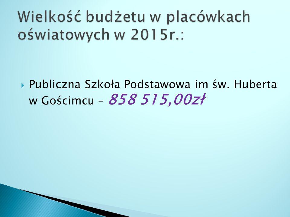  Publiczna Szkoła Podstawowa im św. Huberta w Gościmcu – 858 515,00zł