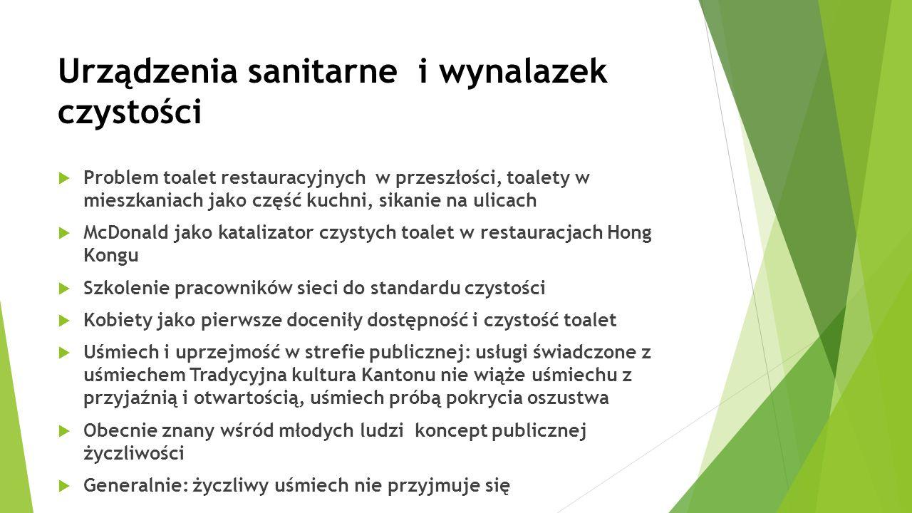 Urządzenia sanitarne i wynalazek czystości  Problem toalet restauracyjnych w przeszłości, toalety w mieszkaniach jako część kuchni, sikanie na ulicac