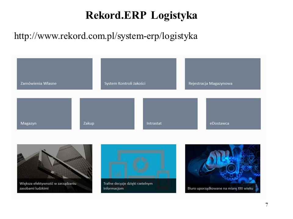 7 Rekord.ERP Logistyka http://www.rekord.com.pl/system-erp/logistyka