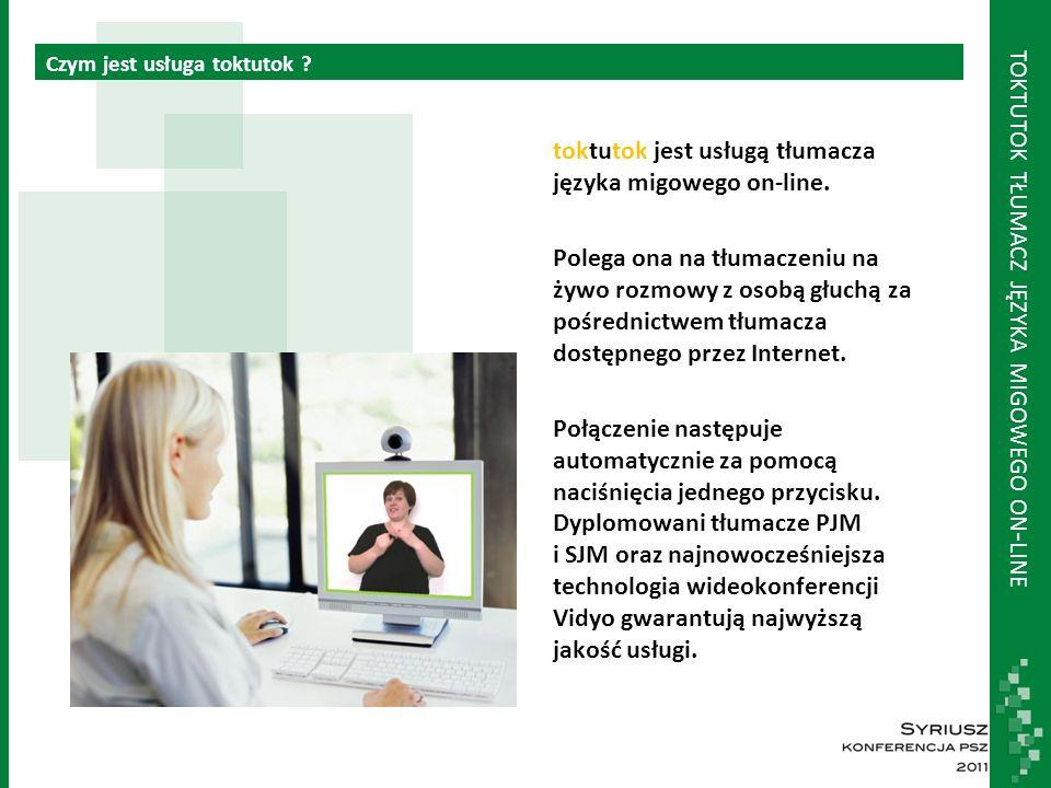 TOKTUTOK TŁUMACZ JĘZYKA MIGOWEGO ON - LINE Osoby głuche nie znają języka polskiego.
