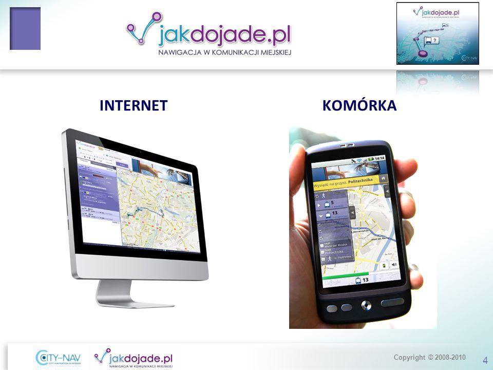 Copyright © 2008-2010 Statystyki serwisu Miesięcznie: Jakdojade.pl /internet/ 3,2 mln odwiedzin1,1 mln UU8 mln wyświetleń m.jakdojade.pl /mobile/ 150 tys.
