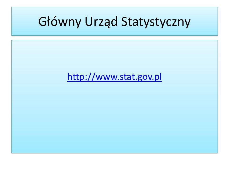 Informacje statystyczne można także znaleźć na portalach poszczególnych instytucji.