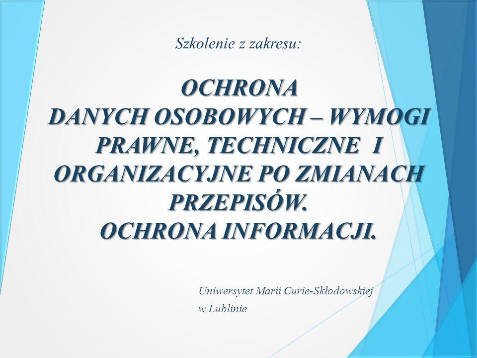  Ustawa z dnia 29 sierpnia 1997 r.o ochronie danych osobowych (tj.