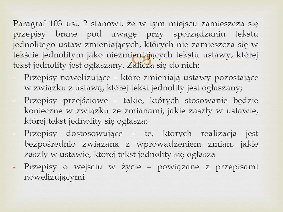  Paragraf 103 ust.