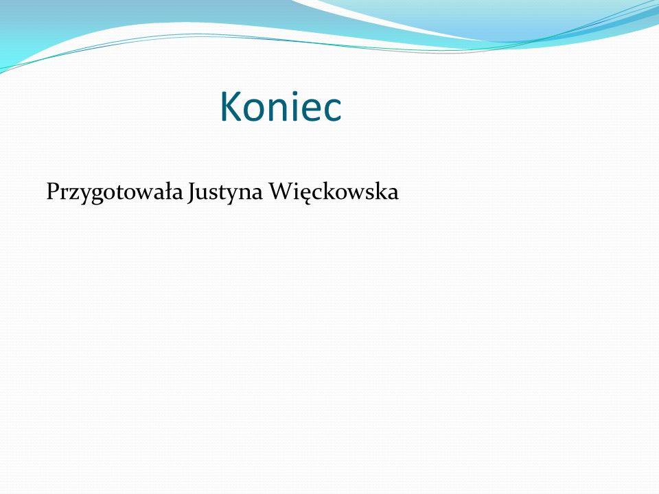 Koniec Przygotowała Justyna Więckowska