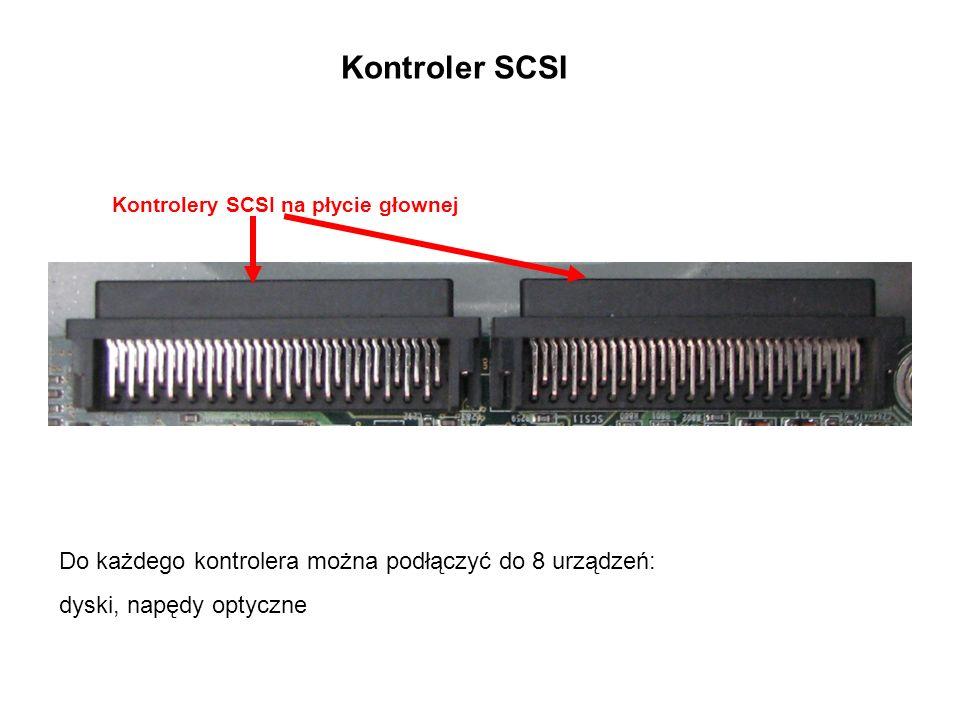 Dysk SCSI 68 pinowy Interfejs SCSI Konfiguracja dyskuzasilanie dysku Kabel sygnałowy SCSIKabel zasilający