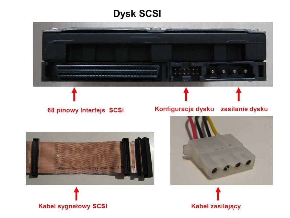 Oznaczenia dysków ST – producent Seagate 3 – wielkość dysku 3,5 cala (2 – 2,5 cala dysk do laptopów) 80011 – pojemność dysku w MB A – interfejs ATA (E-IDE), gdy jest AS – interfejs S-ATA 160 GB - pojemność 7200 rpm – ilość obrotów na minutę 8 M – ilość pamięci Cache dysku w MB