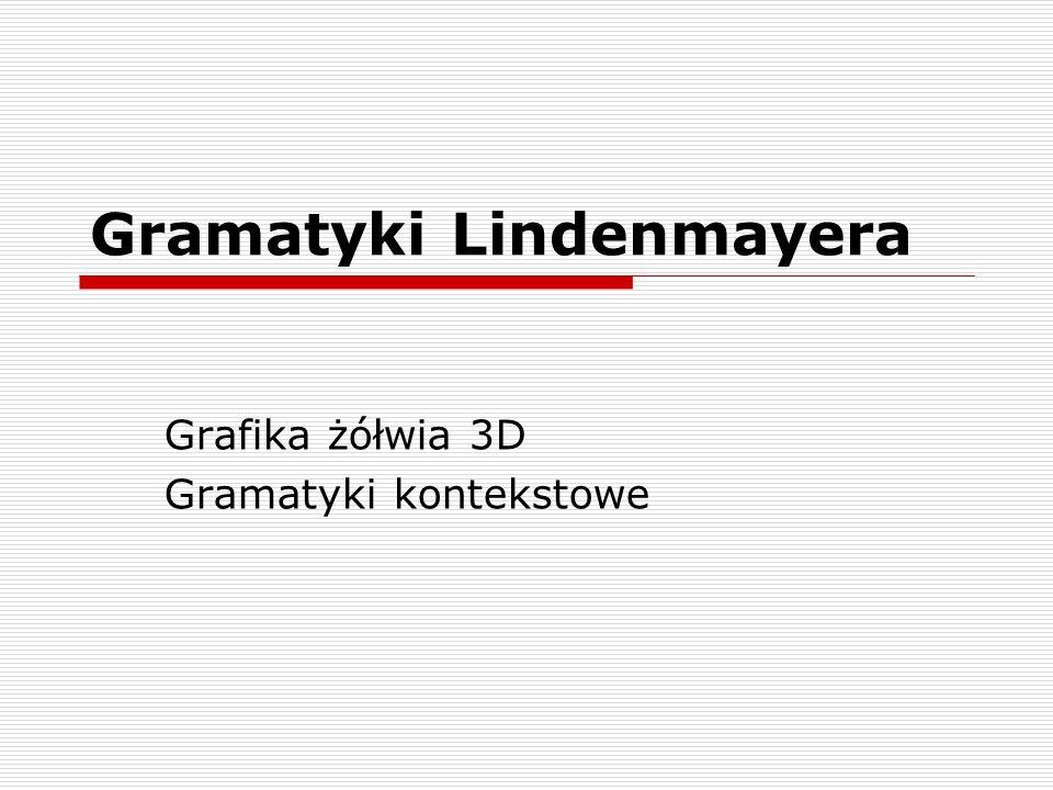 Gramatyki Lindenmayera Grafika żółwia 3D Gramatyki kontekstowe