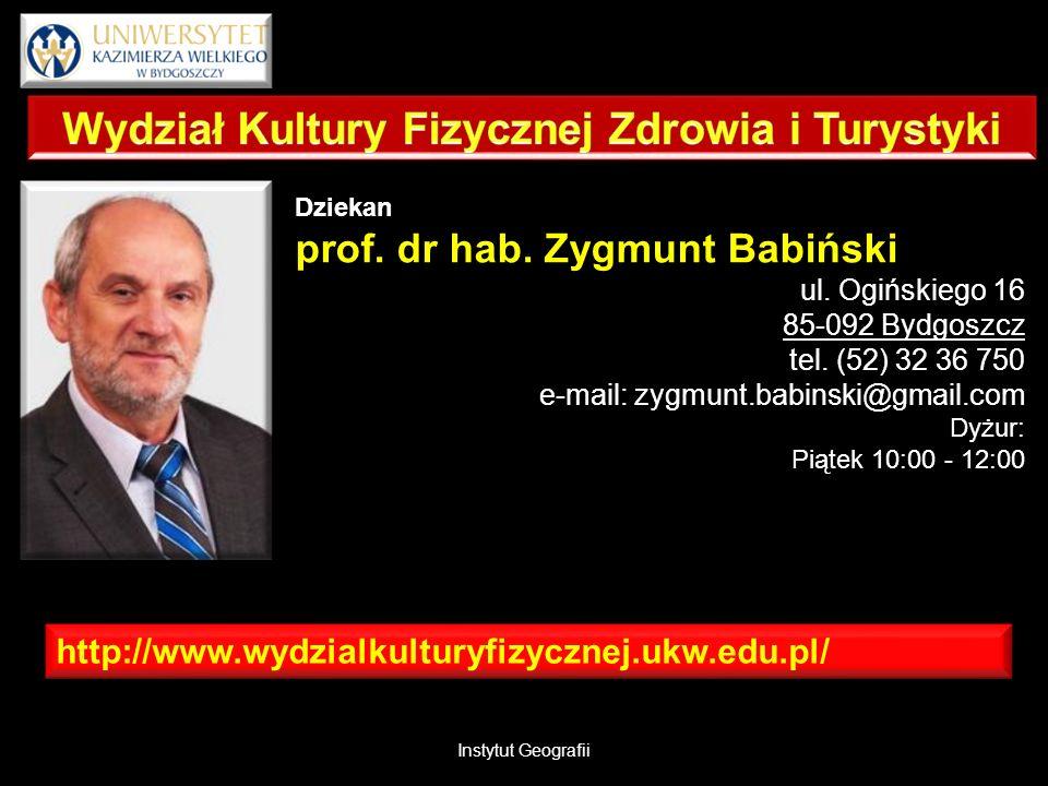 http://www.wydzialkulturyfizycznej.ukw.edu.pl/ Dziekan prof.