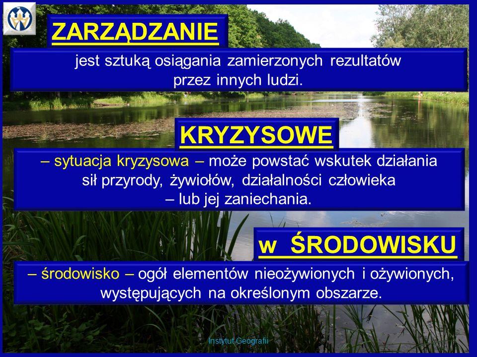 Instytut Geografii ul. Mińska 15 Instytut Geografii http://geoportal.gov.pl/start
