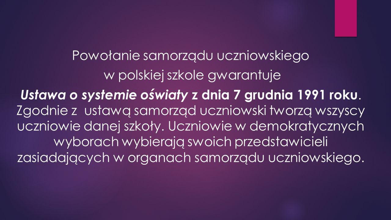  Prekursorami samorządności uczniowskiej w Polsce byli: Janusz Korczak Władysław Przanowski Aleksander Kamiński