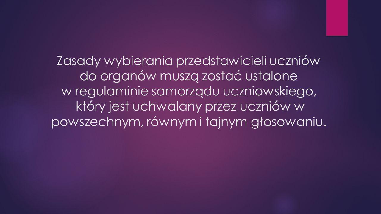Powołanie samorządu uczniowskiego w polskiej szkole gwarantuje Ustawa o systemie oświaty z dnia 7 grudnia 1991 roku.