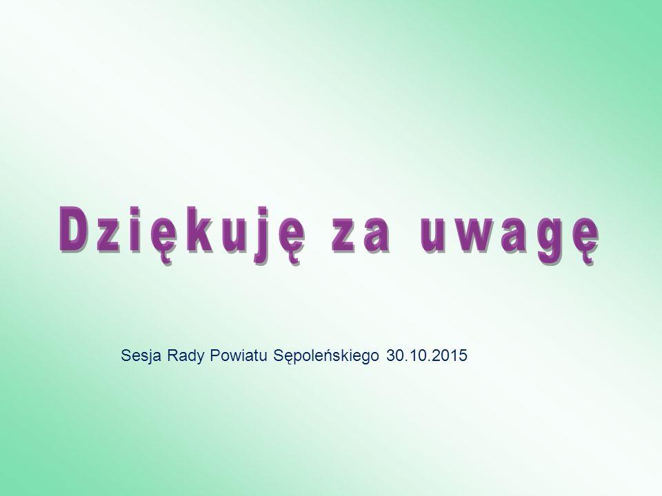 Sesja Rady Powiatu Sępoleńskiego 30.10.2015
